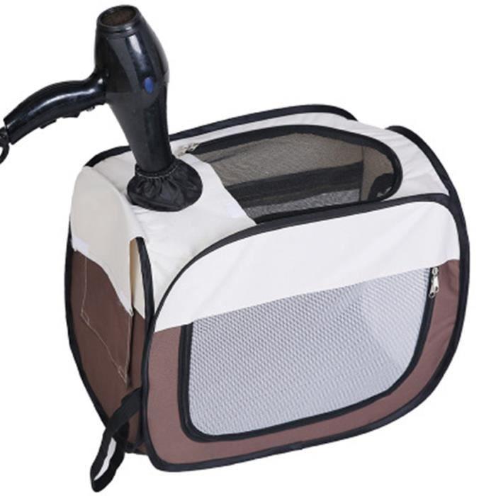 Petite boîte de séchage rectangulaire 53 * 45 * 36cm-boîte de séchage pour animaux de compagnie-tente de bain pour chat et chien