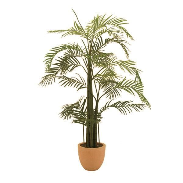 Lot 2 x Palmier artificiel Areca en pot, 13 palmes, 110 cm, extérieur - 2 pcs palmier en pot - plante artificielle palmier -