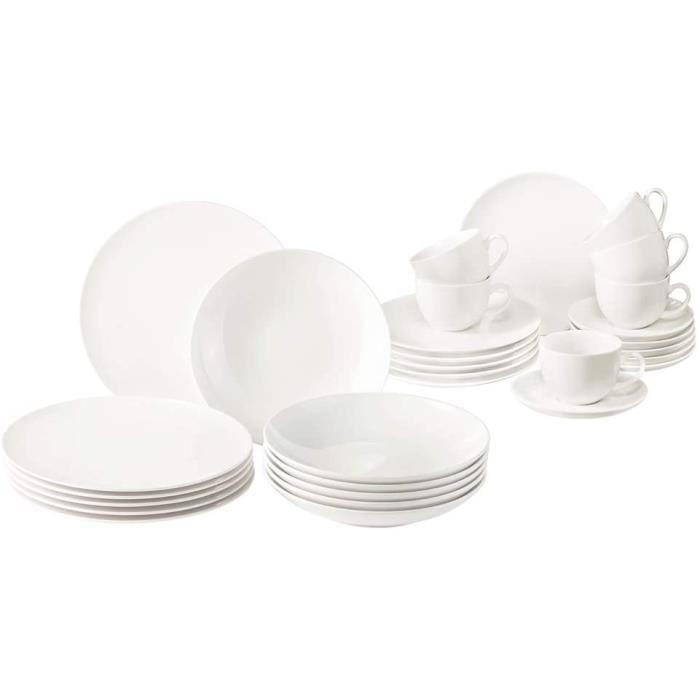 Vivo by Villeroy Boch Group New Fresh Basic Service de table 30 pièces en porcelaine de qualité supérieure Passe au lave-vaisselle e