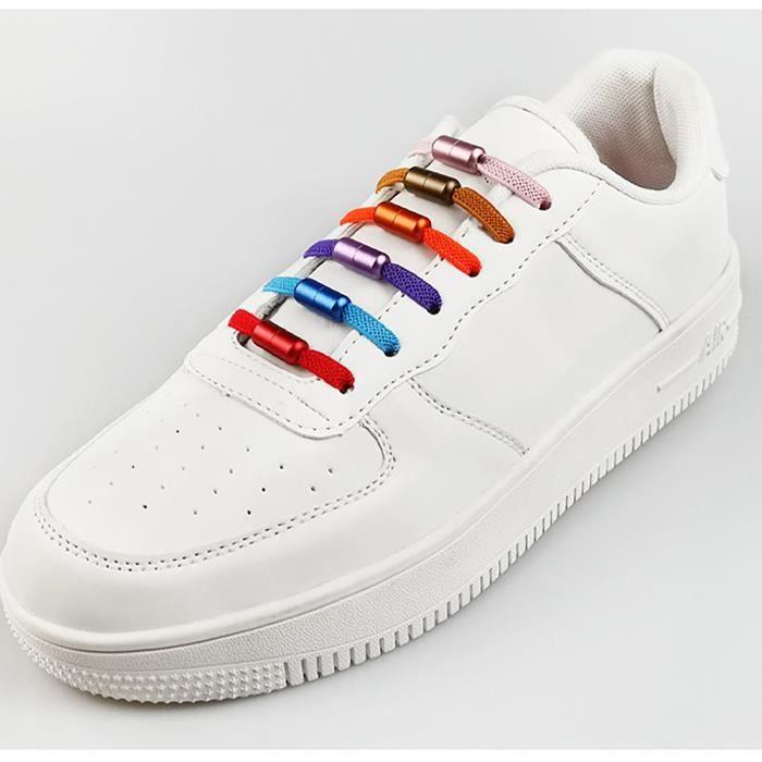 Color Metal Capsule Shoelace Enfant Adulte Lacets Élastiques Sans Attaches YU777