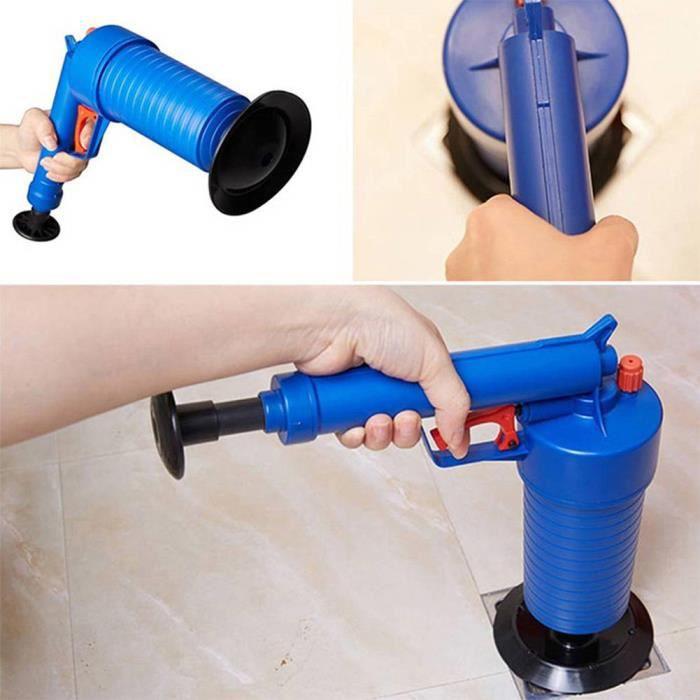Fdit pompe de toilette Nettoyeur de pompe de vidange Air Power Blaster Débloquer les adaptateurs de lavabo de toilette Accueil