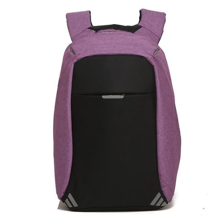 Sac à dos avec fermeture intérieur Anti-vol . LOCKBAG couleur - Violet
