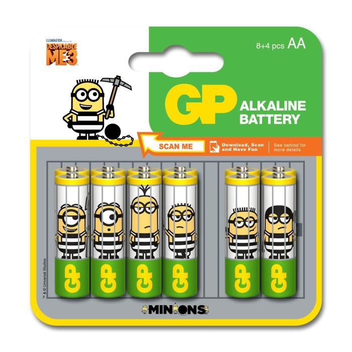 GP Piles AA LR6 Ultra 8+4 Minions