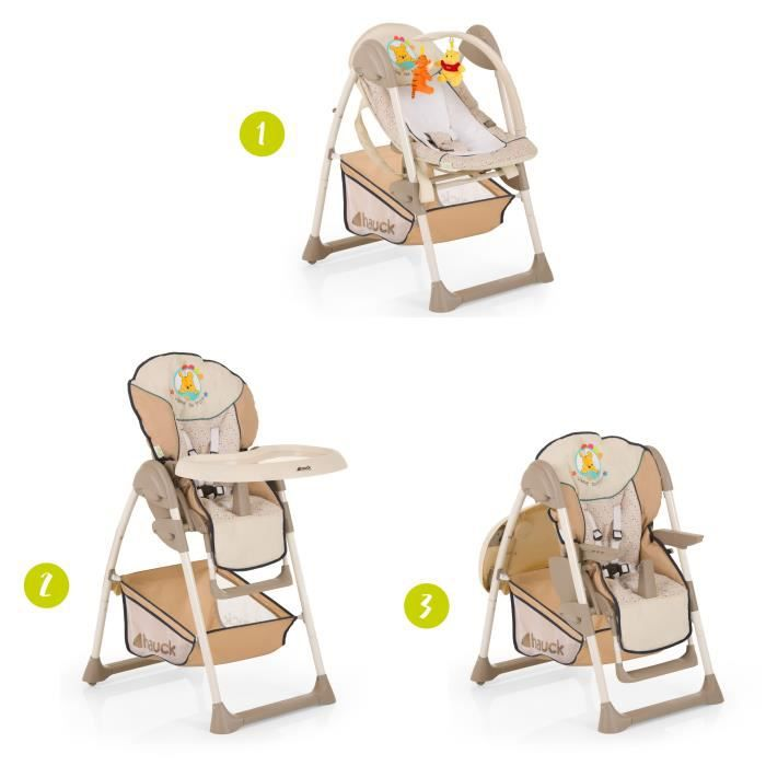 WINNIE L'OURSON Chaise Haute évolutive 2 en 1 Sit'N relax - Disney Baby