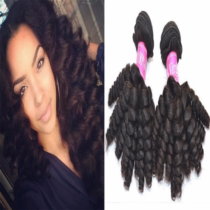 """Tissage 2 Indienne humain baby curly cheveux indienne humain hair 10""""10"""""""