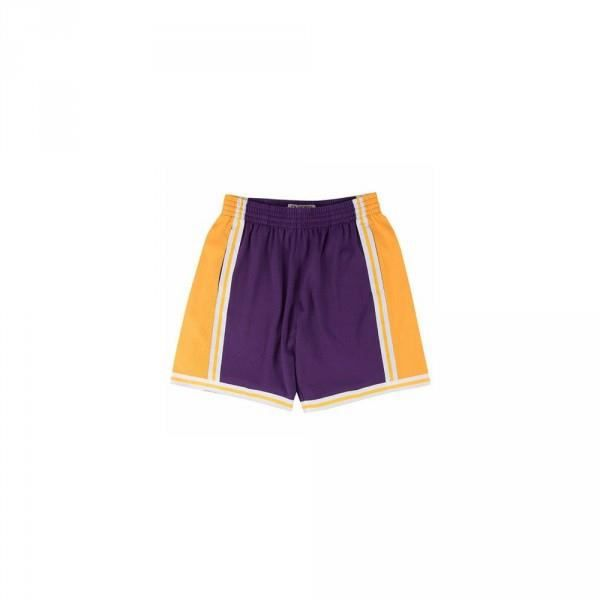 Short NBA Los Angeles Lakers 1984-85 Mitchell amp Ness Swingman Violet pour Hommes