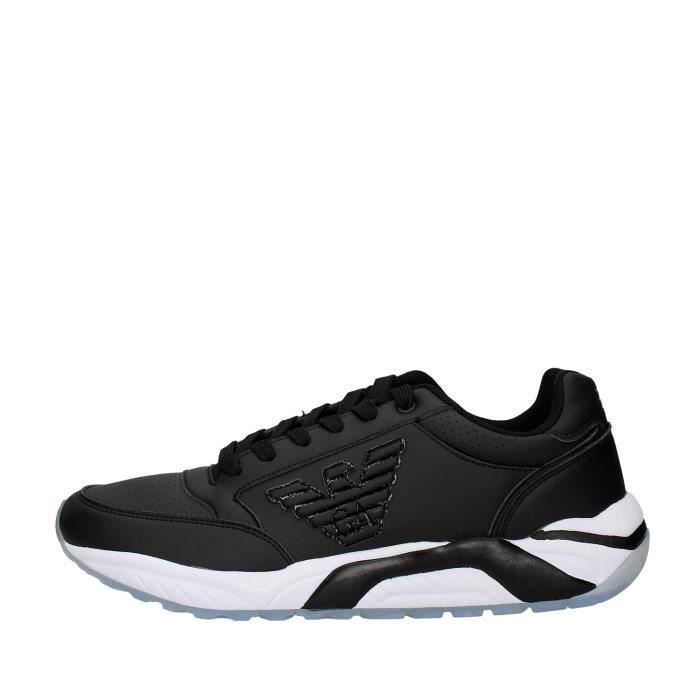 Ea7 X8X022 chaussures de tennis faible homme NOIR