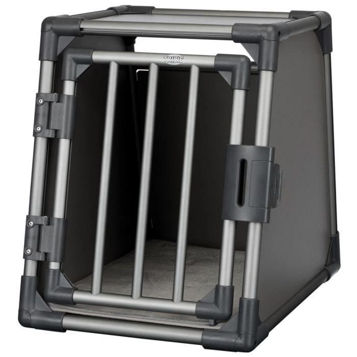 TRIXIE Cage de transport incliné pour chiens Taille S Alu graphite 39335