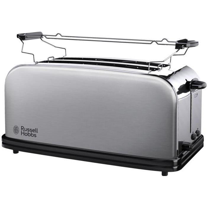 RUSSELL HOBBS 23610-56 Toaster Grille Pain Adventure 2 Fentes Spécial Baguette, 6 Niveaux de Brunissage, Chauffe Viennoiserie