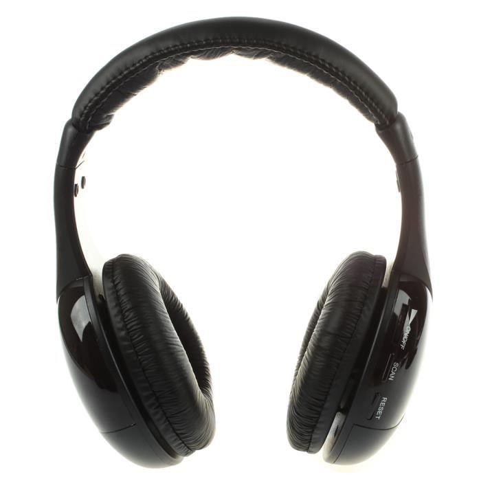 Casque sans fil Hi-Fi Radio FM ecouteurs MP3 pour moniteur PC TV audio Telephones portables