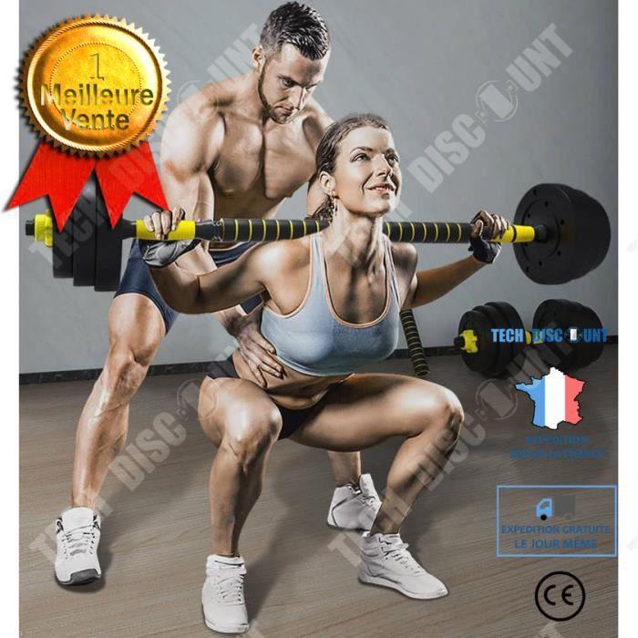 TD® Équipement de fitness à domicile pour haltères de protection de l'environnement pour hommes Amovible- 30kg