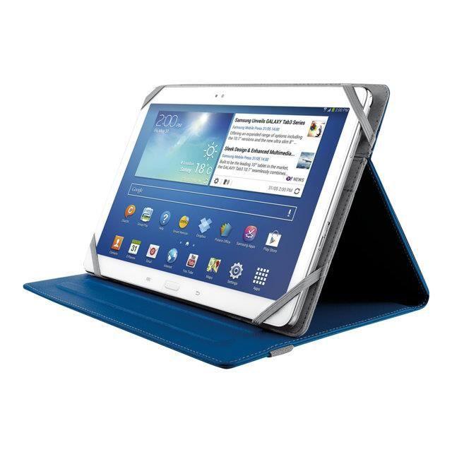 TRUST Housse Folio Verso 10'' - Ipad Mini - Bleu