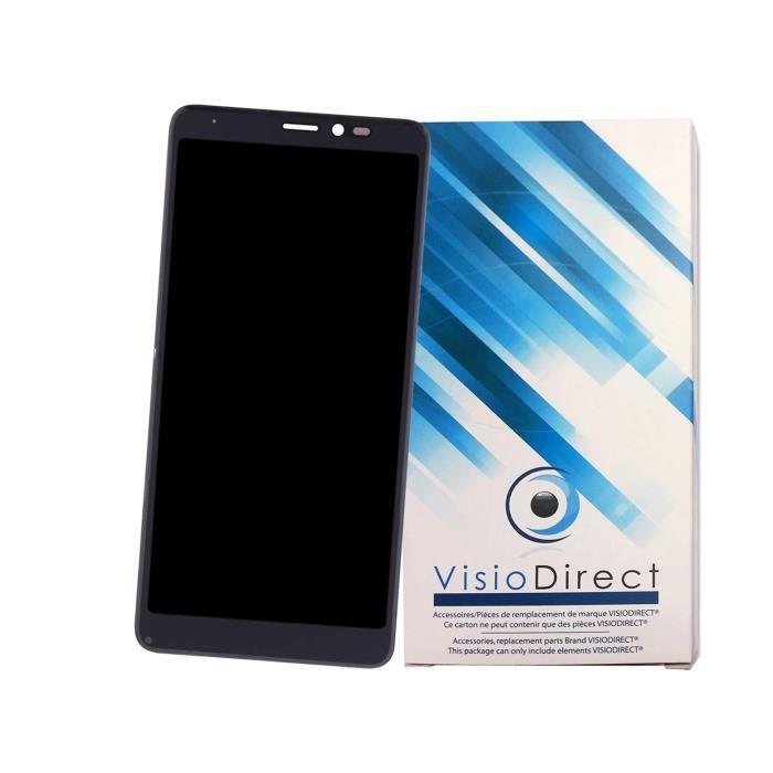 Ecran complet pour WIKO Y60 bleu 5.45- Ecran LCD + vitre tactile Téléphone portable