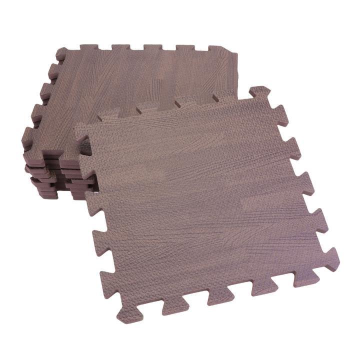 12 PCS tapis de sol emboîtable imperméable à l'eau grain de bois Puzzle d'exercice de mousse pour salle de jeux CORDE A SAUTER