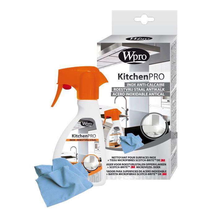 WPRO Kit Cuisine anticalcaire pour surfaces inox