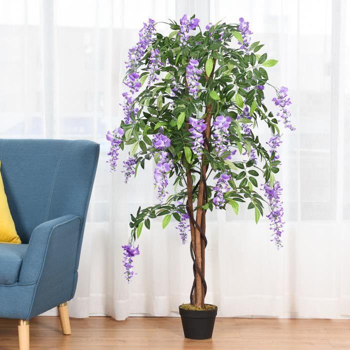 FLEUR ARTIFICIELLE WISTERIA Plante Artificielle avec Fausses Fleurs V