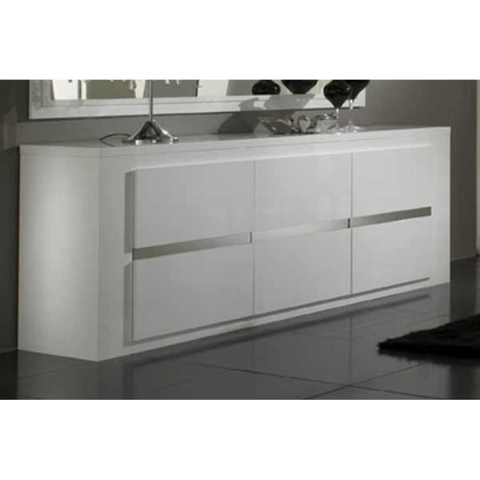 bahut tania blanc laque 3 portes achat vente buffet. Black Bedroom Furniture Sets. Home Design Ideas