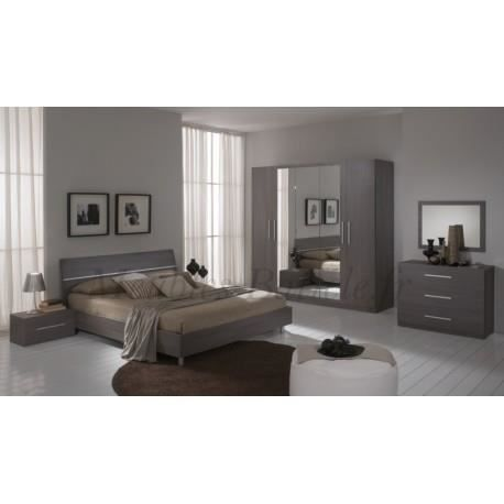 Chambre adulte compl te design gloria achat vente for Chambre complete design