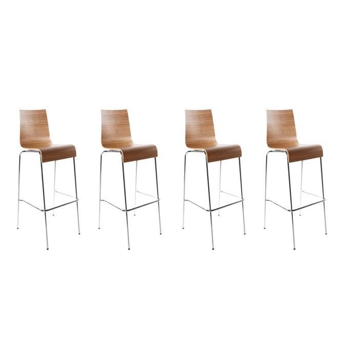 Lot de 4 tabourets de bar forest bois zebr achat vente tabouret de bar b - Lot 4 tabouret de bar ...