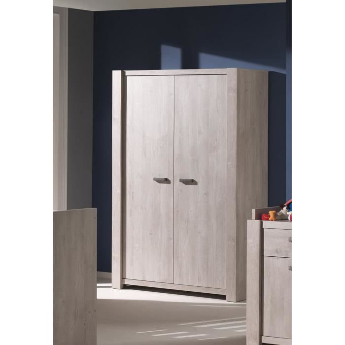 armoire b b 2 portes coloris ch ne norv gien achat vente armoire de chambre armoire b b 2. Black Bedroom Furniture Sets. Home Design Ideas