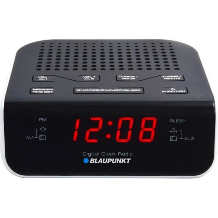 Radio réveil RADIO-RÉVEIL BLAUPUNKT CR5WH, FM PLL, NOIR