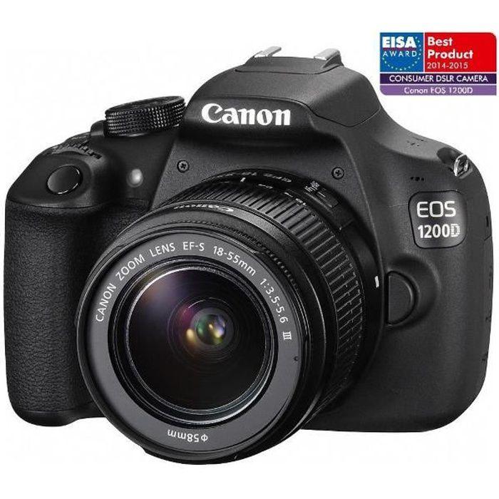 APPAREIL PHOTO RÉFLEX 1200D - Appareil photo numérique + objectif EF
