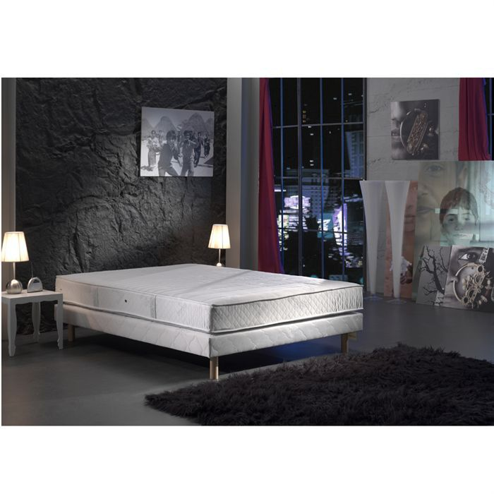 creasom ensemble matelas sommier 160x200 cm mousse et latex ferme 25 kg m3 et 75 kg m3. Black Bedroom Furniture Sets. Home Design Ideas