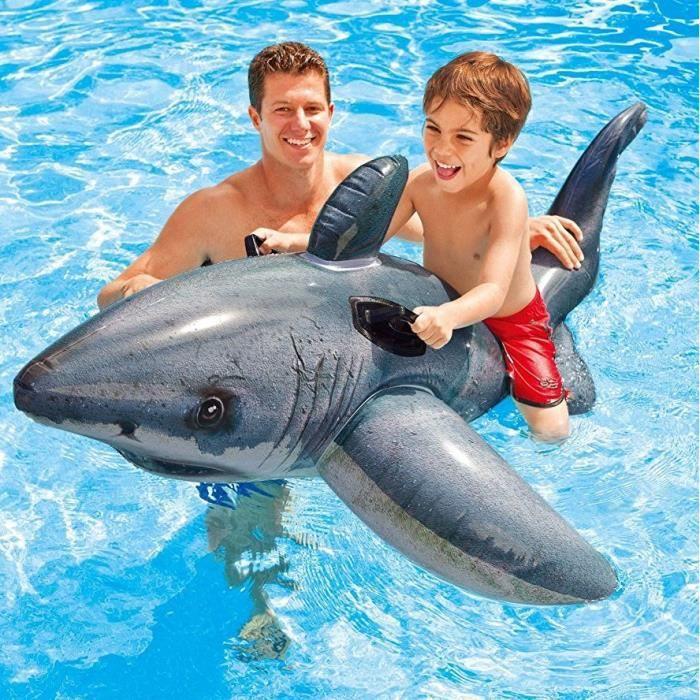 | Parasol Prot/ège Votre B/éb/é du Soleil Plage Et Vacance 6-36 Mois Veitorld Bou/ée Gonflable Requin pour Enfants Et B/éb/é Flotteur et Si/ège De Taille R/églable| pour La Piscine