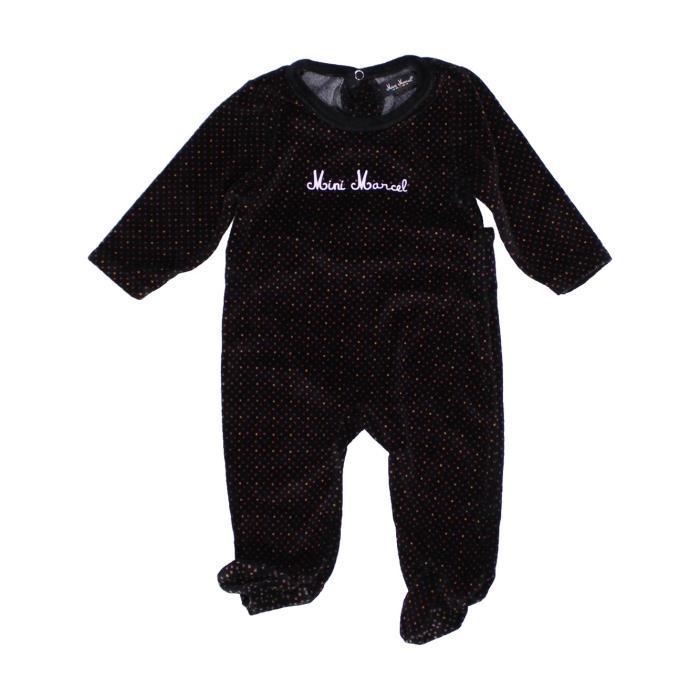 pyjama 1 pi ce b b fille little marcel 6 mois noir hiver. Black Bedroom Furniture Sets. Home Design Ideas