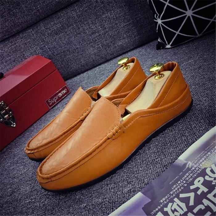 Moccasins homme Nouvelle Mode 2017 marque de luxe chaussure en cuir Grande Taille chaussures homme Respirant Poids Léger Loafer 44