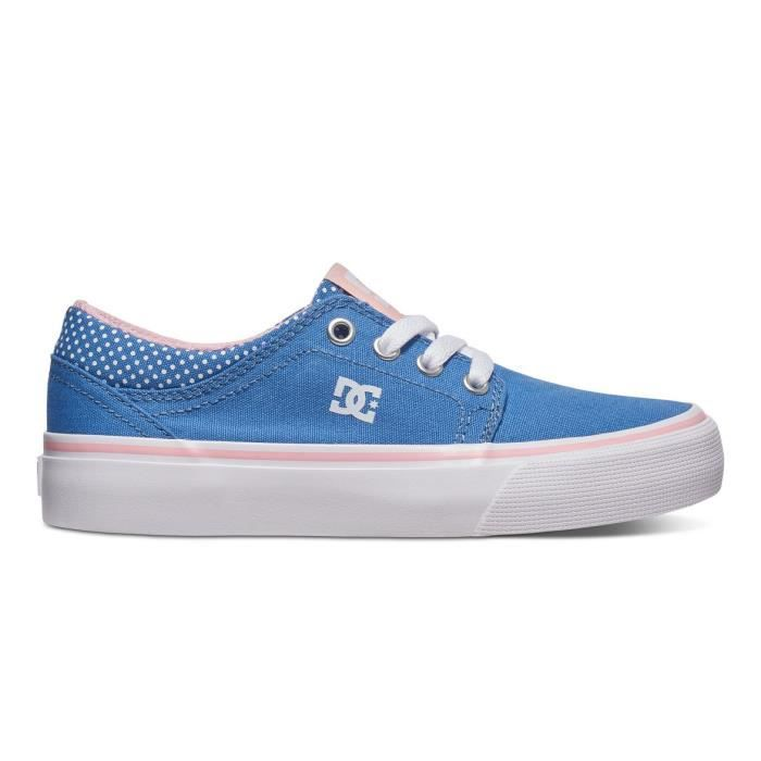 Chaussures DC SHOES TRASE TX SE BLUE white print (uwp) Bleu
