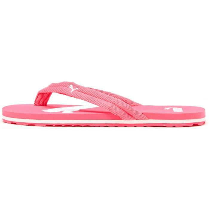 Puma Femmes Basic Flip Flop Beach Sandales en Rose 341515 11 ...