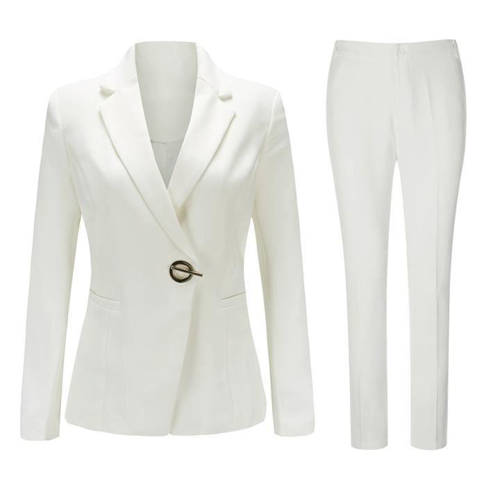 Costume femme 2 pieces un bouton (veste+slim