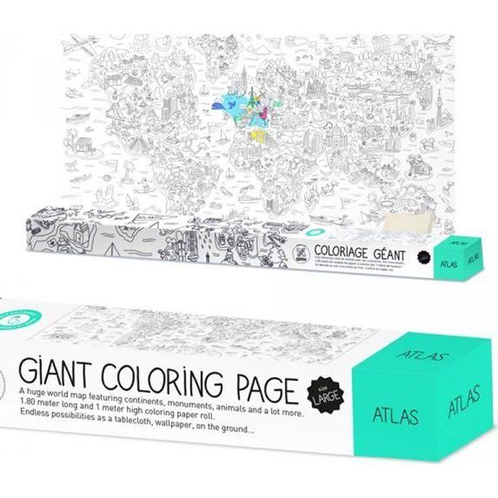 Rouleau De Coloriage Geant Atlas Omy Achat Vente Jeu De Coloriage Dessin Pochoir Rouleau De Coloriage Geant A Prix Barre 3760235510251 Cdiscount