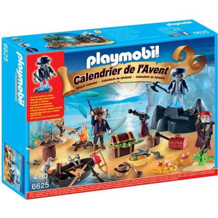 playmobil 6625 calendrier de l 39 avent ile des pirates achat vente calendrier de l 39 avent. Black Bedroom Furniture Sets. Home Design Ideas