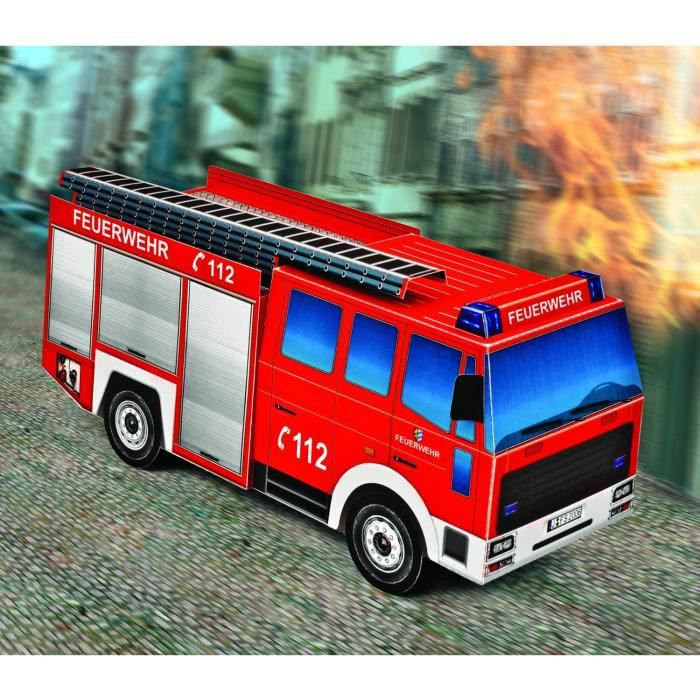 maquette en carton camion de pompiers achat vente voiture construire cdiscount. Black Bedroom Furniture Sets. Home Design Ideas