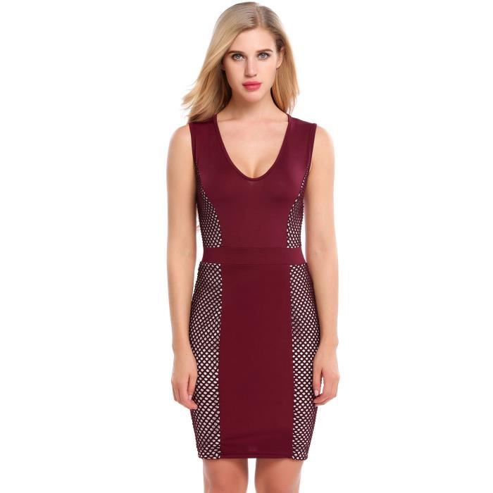 Robe Bodycon sans manches
