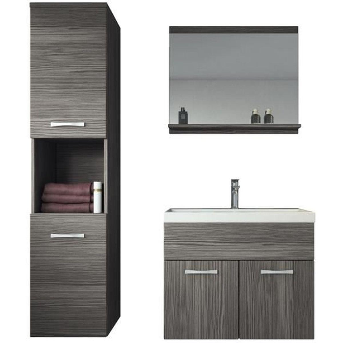 Meuble de salle de bain Montréal 20 cm lavabo Bodega - Armoire de