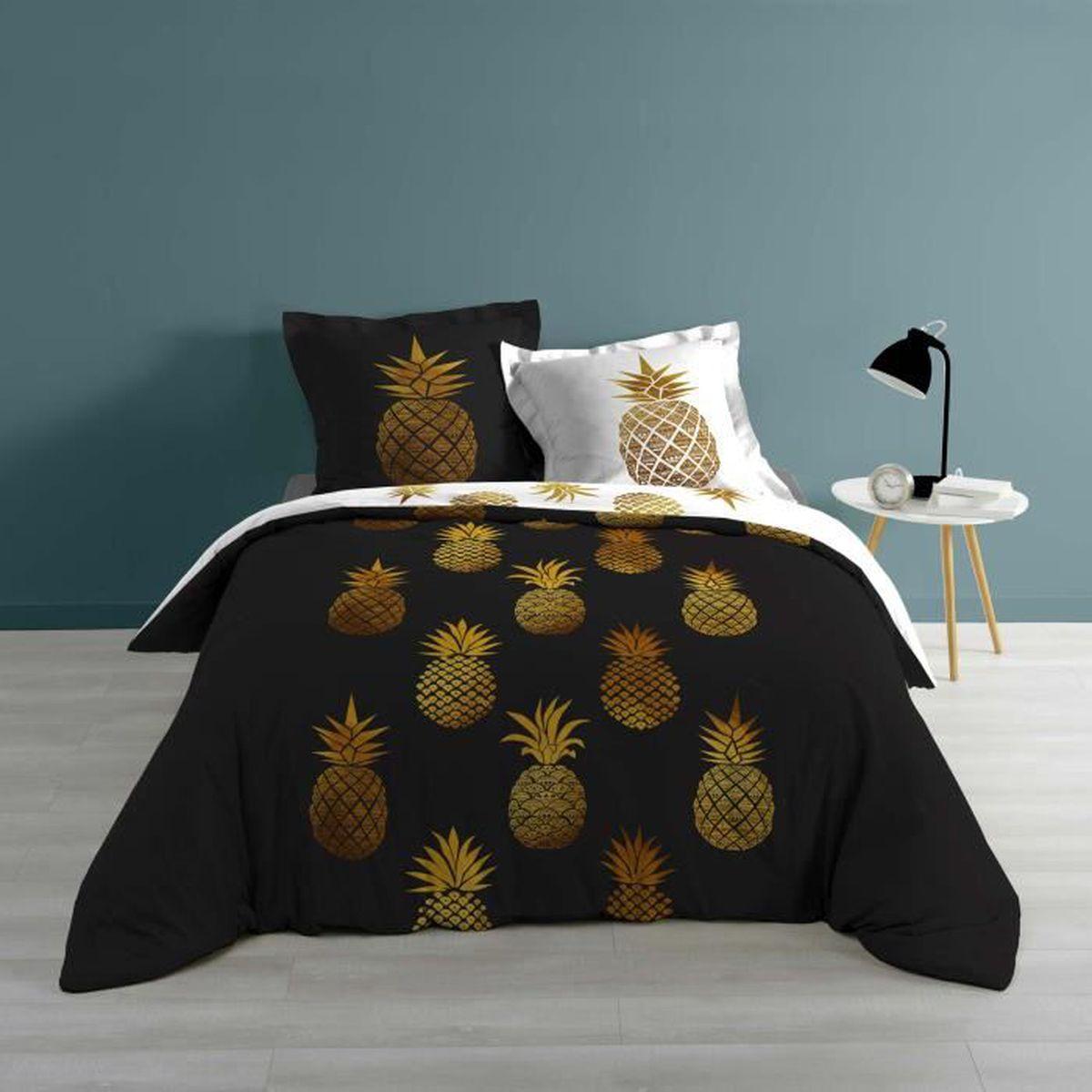 Housse De Couette Noir Blanc Gris housse de couette ananas