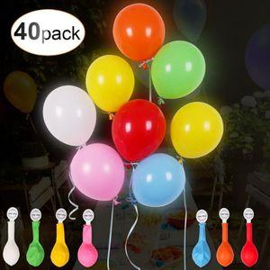 1 pack de 24 DEL Blanc ballons éclairant pour lanternes de papier ballons Flora