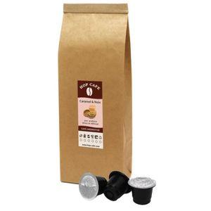 CAFÉ 30 capsules arôme Caramel Noix pour Nespresso