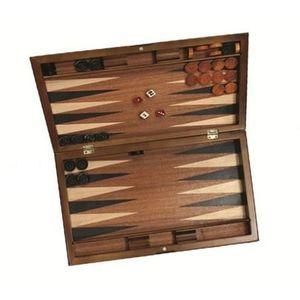 JEU SOCIÉTÉ - PLATEAU Backgammon de voyage, jeu de société en bois