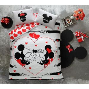 housse de couette mickey 200x200 achat vente pas cher. Black Bedroom Furniture Sets. Home Design Ideas
