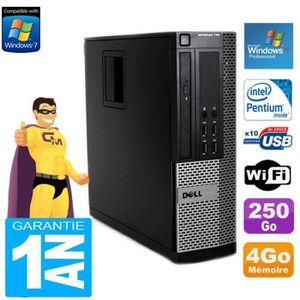 UNITÉ CENTRALE  PC Dell 790 SFF Intel G630 4Go Disque Dur 250Go Gr