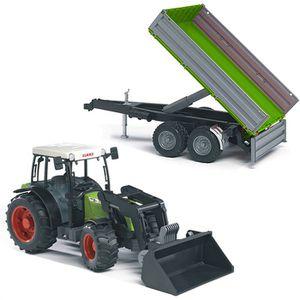 TRACTEUR - CHANTIER Bruder - Tracteur + Remorque Claas
