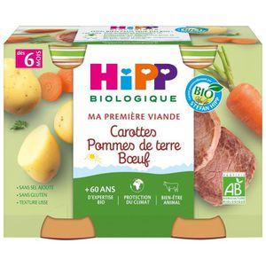 PLATS PRÉPARÉS SOIR HIPP BIOLOGIQUE Ma première viande Carottes pommes