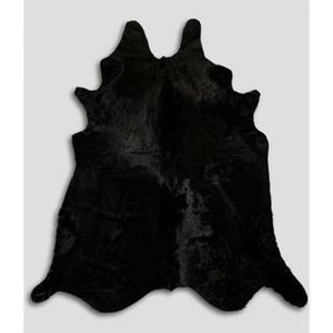 tapis peau de vache noir achat vente tapis peau de. Black Bedroom Furniture Sets. Home Design Ideas