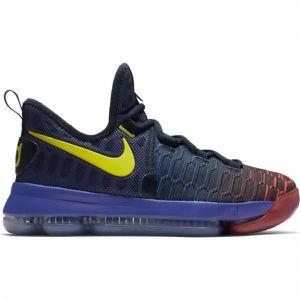 amazing selection official store check out Chaussure de basket Nike Zoom KD IX GS Bleu jaune pour ...