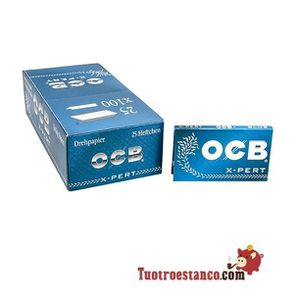 OCB courte double x-pert bleu lot de 5 carnets de feuille a rouler