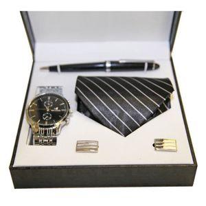 PARURE Coffret Cadeaux Homme Montre, Cravatte, Boutons de